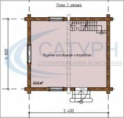 Проект Борок - План 1 этажа